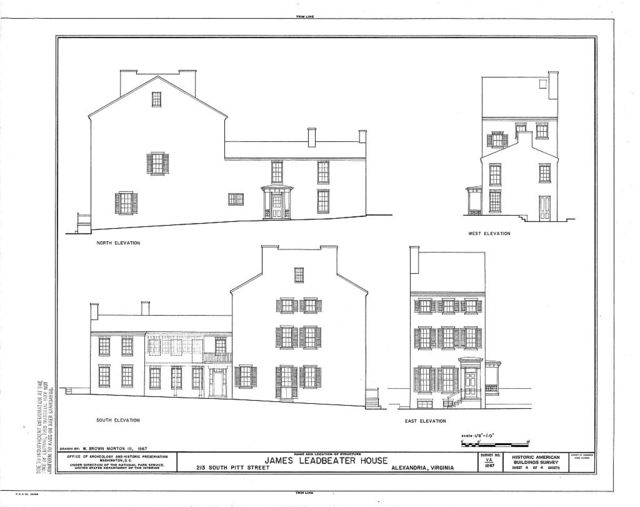James Leadbeater House, 213 South Pitt Street, Alexandria, Independent City, VA