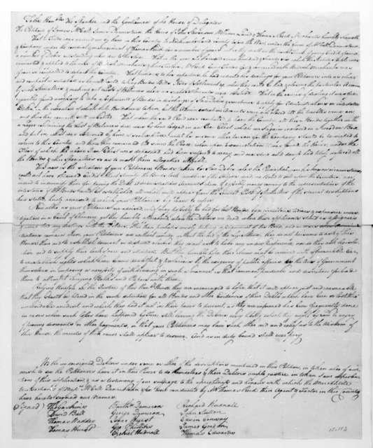 James McCall to Virginia House of Delegates. Petition regarding British debts.