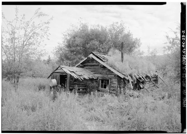 James Minano Cabin, Slate Creek at Koyukuk River, Bettles Vicinity, Coldfoot, Yukon-Koyukuk Census Area, AK