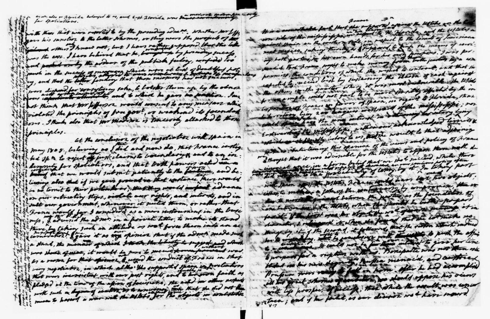 James Monroe Papers: Series 1, General Correspondence, 1758-1839; 1807 Jan. 24-1812 Mar. 12 (Reel 4)