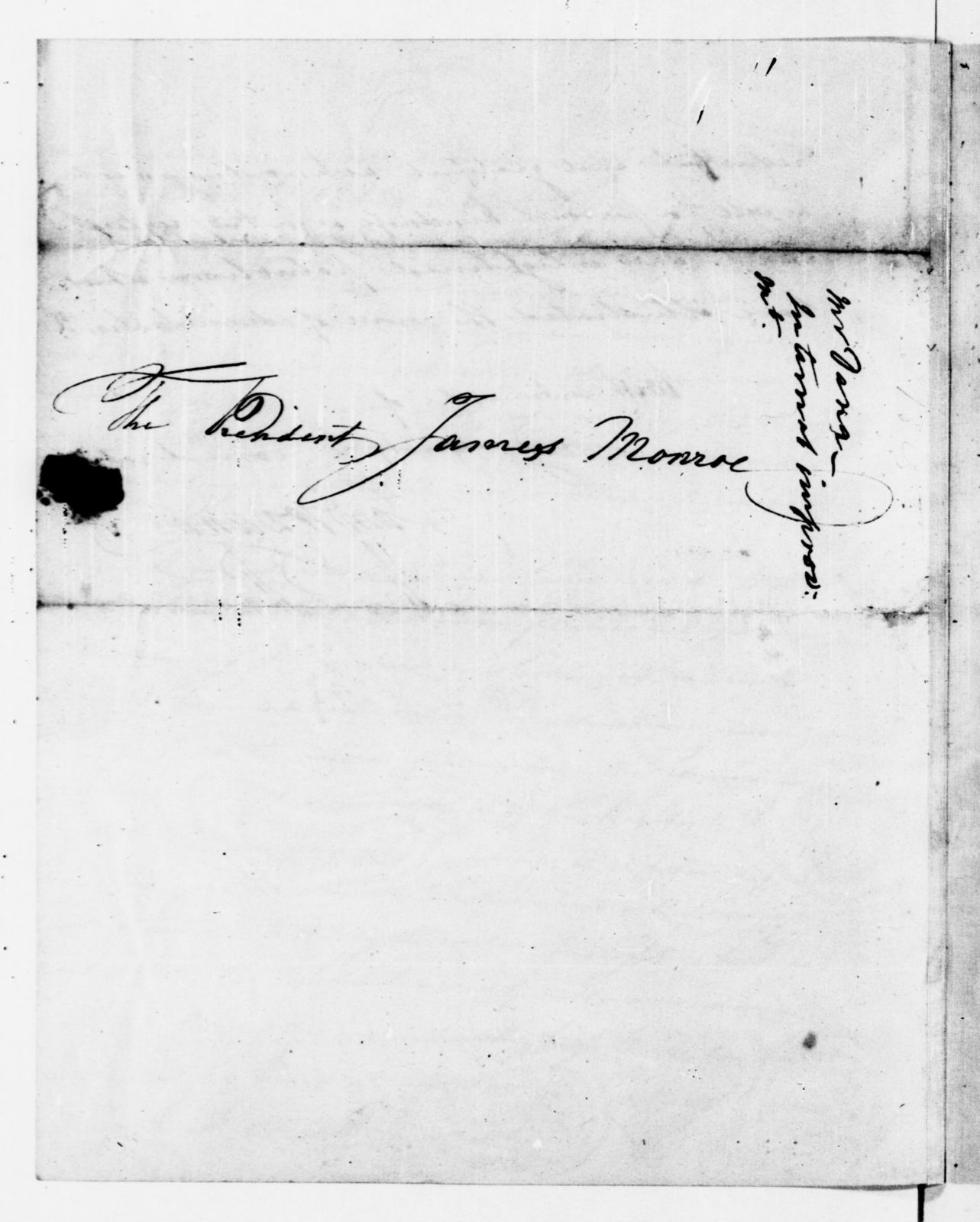 James Monroe Papers: Series 1, General Correspondence, 1758-1839; 1821 July 20-1825 Mar. 10 (Reel 8)