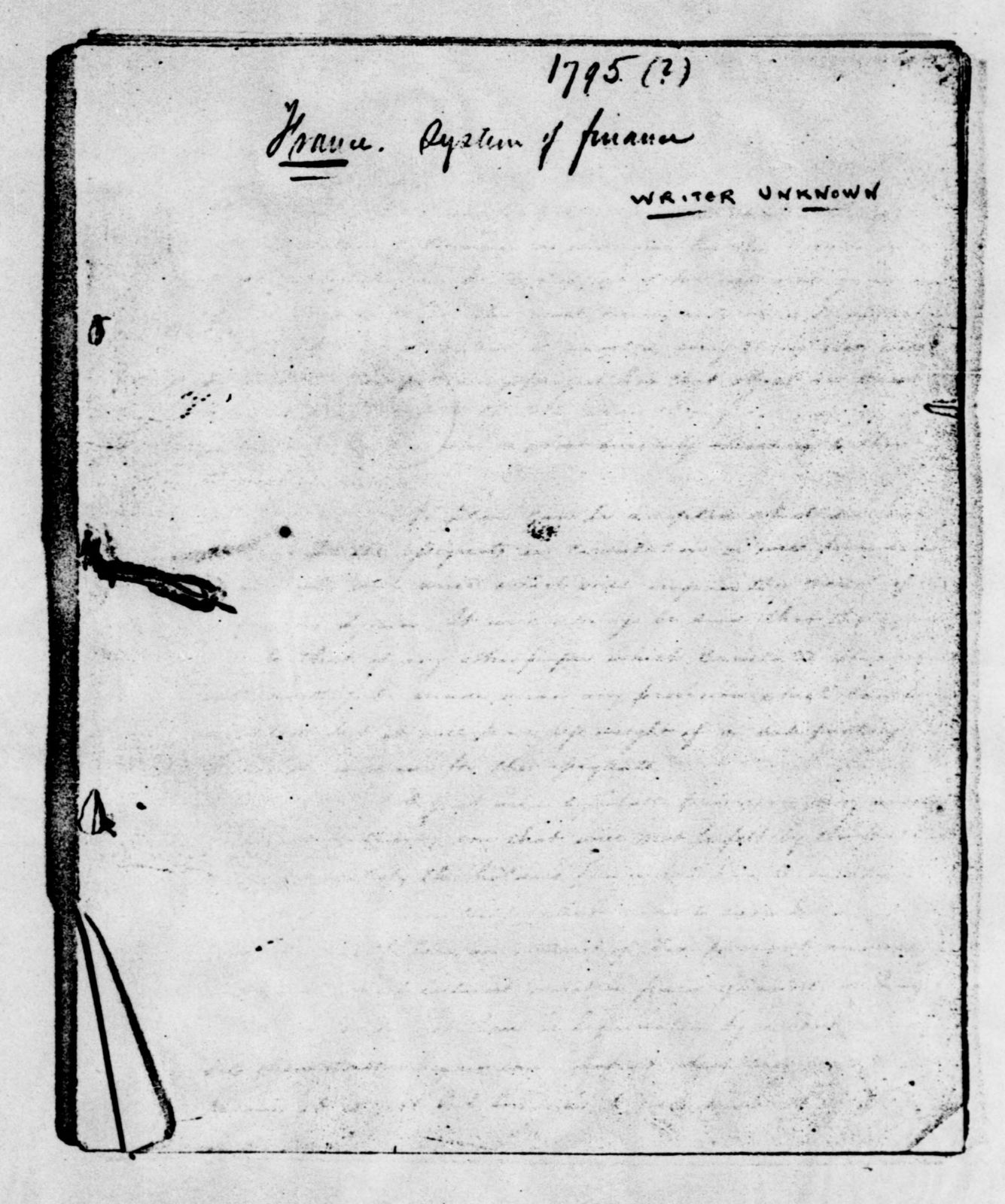 James Monroe Papers: Series 2, Additional Correspondence, 1776-1838; 1792 Oct. 20-1838 Nov. 14, undated (Reel 10)