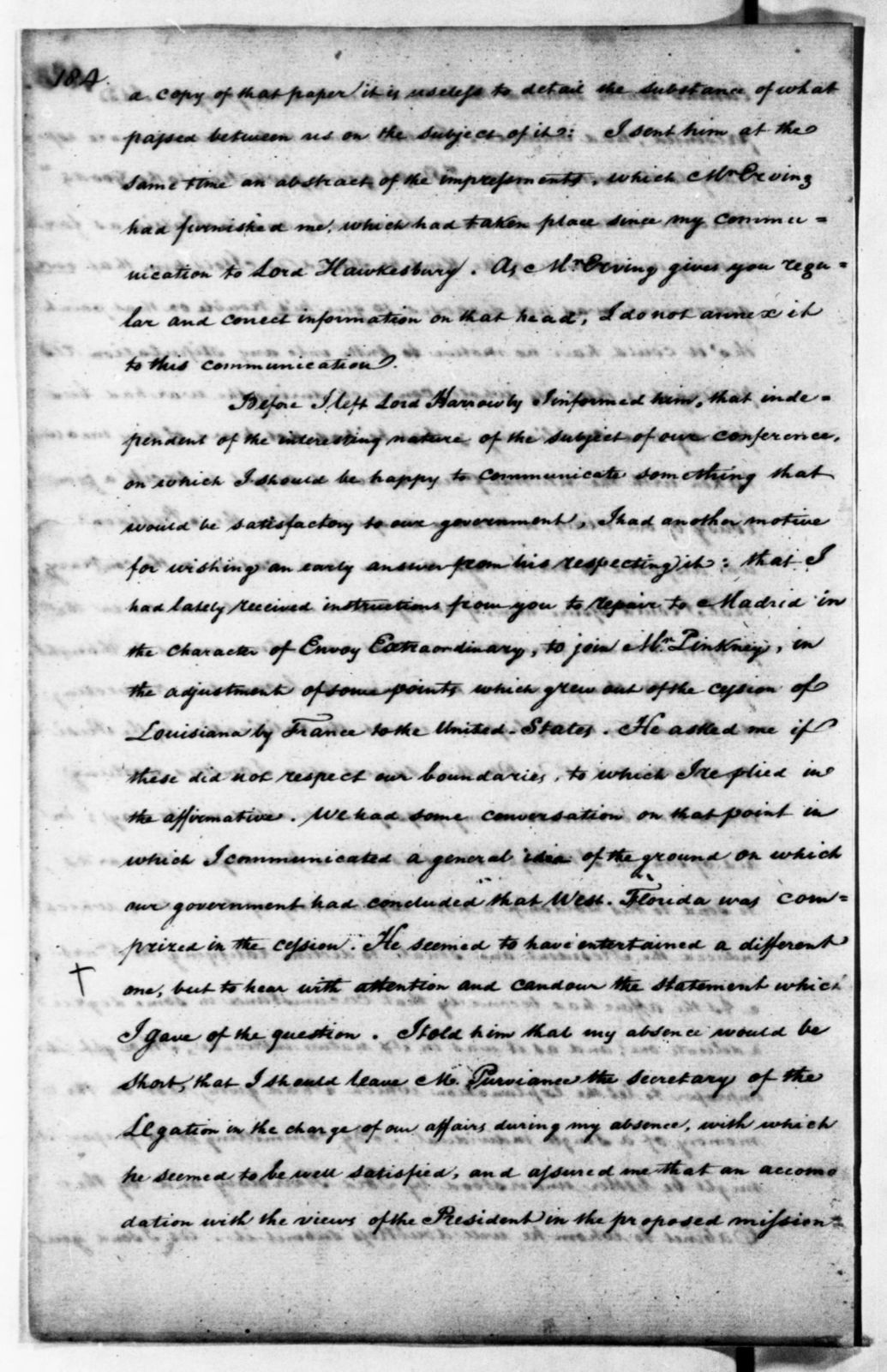 James Monroe Papers: Series 3, Letterbooks and Account Book, 1794-1806; Vol. 1; 1804 Aug. 7-1805 Nov. 29 (Reel 11)