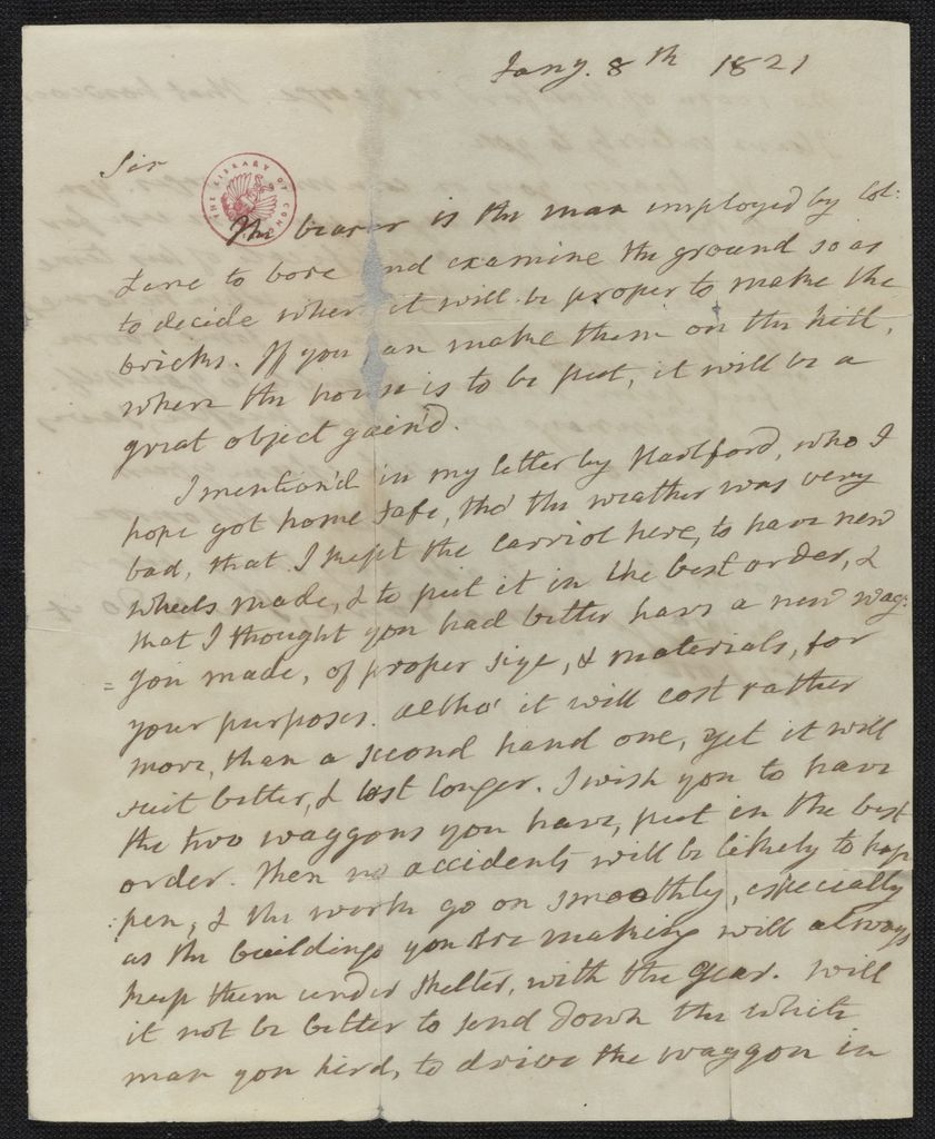 James Monroe Papers: Series 4, Addenda, 1778-1831; 1979-1985 additions; Part A, originals; Correspondence and miscellany; 1821 Jan. 8-1829 Mar. 4