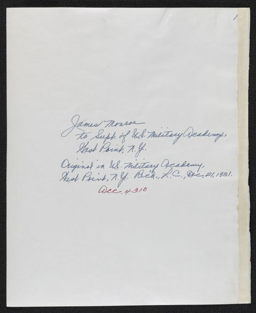 James Monroe Papers: Series 4, Addenda, 1778-1831; 1979-1985 additions; Part B, photocopies; Correspondence; 1822-1828, undated