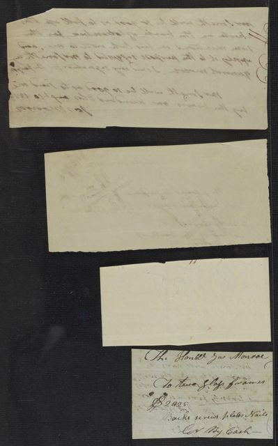 James Monroe Papers: Series 4, Addenda, 1778-1831; 1996 addition; Covenant, promissory note and other financial records, and a genealogical note fragment, 1813-1814, 1819, 1825, undated