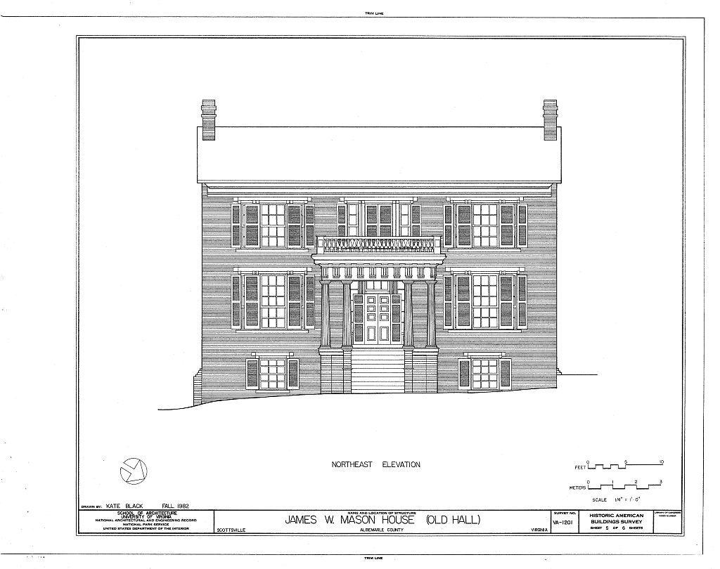 James W. Mason House, Byrd & Harrison Streets, Scottsville, Albemarle County, VA