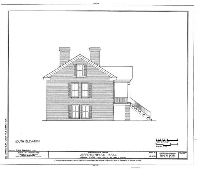 Jefferies-Bruce House, Harrison Street, Scottsville, Albemarle County, VA