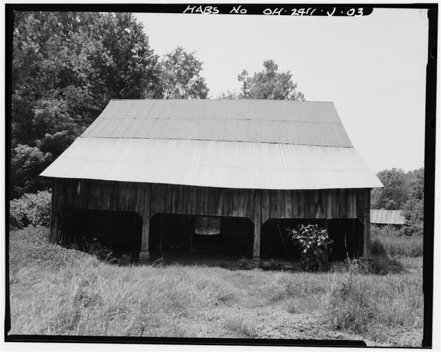 Jeremiah Bean Farmstead, Barn, Southwest side of U.S. Route 50, 1.8 miles south of Guysville, Guysville, Athens County, OH