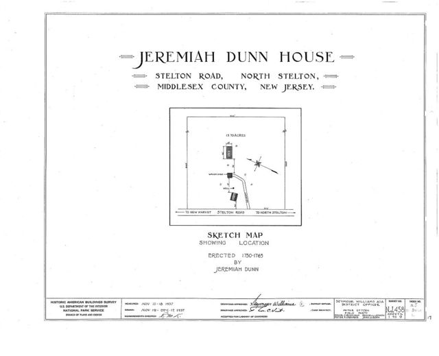 Jeremiah Dunn House, Stelton Road, North Stelton, Middlesex County, NJ