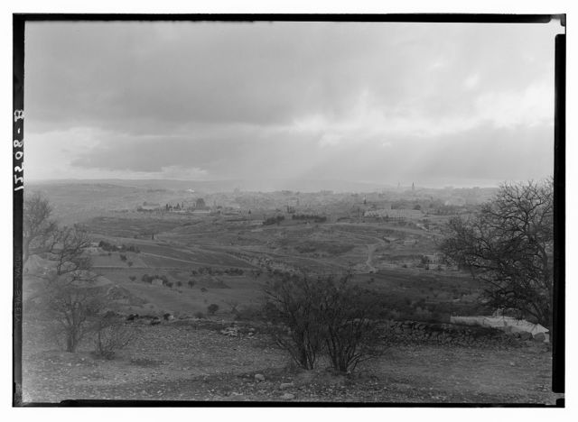 Jerusalem, sun rays over Jerusalem taken from Scopus, late afternoon, Feb. 6, '42