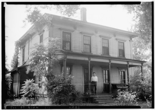 Jesse Fell House, 502 Irving (moved from Broadway & Irving Streets), Normal, McLean County, IL