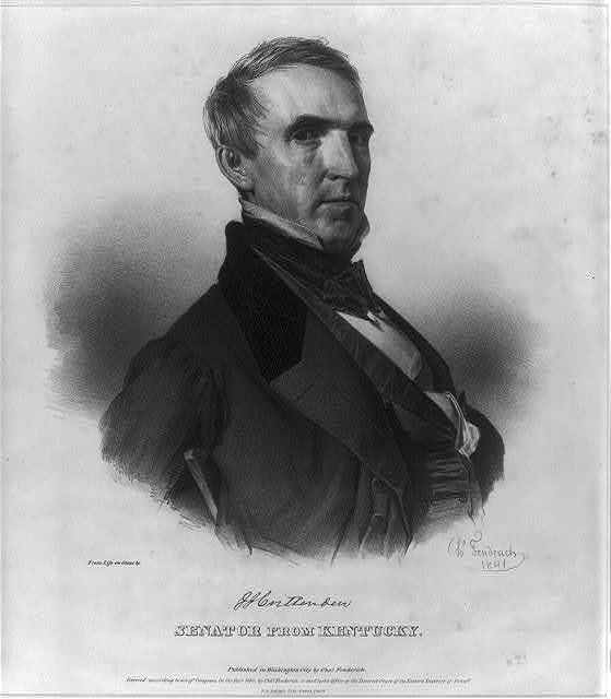 J.J. Crittenden, Senator from Kentucky