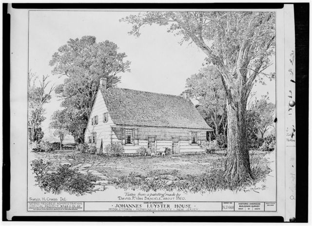 Johannes Luyster House, Laurel Avenue & Middleton Road, Holland, Monmouth County, NJ