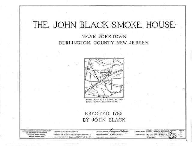 John Black Smokehouse, Monmouth Road, Jobstown, Burlington County, NJ