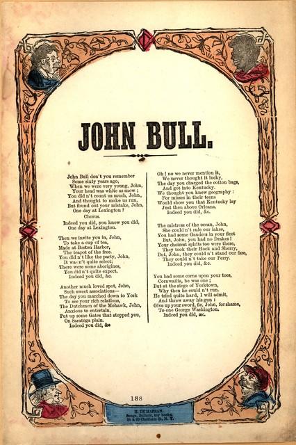 John Bull. H. De Marsan, 38 & 60 Chatham Street, N. Y