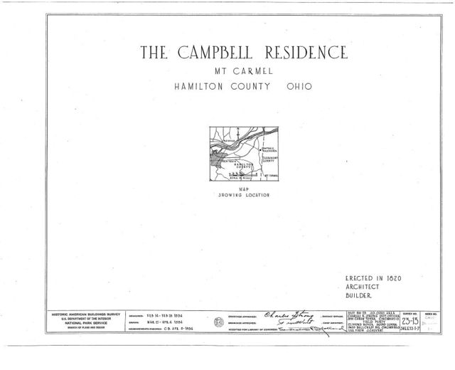 John Campbell Residence, Mount Carmel Road, Mount Carmel, Clermont County, OH