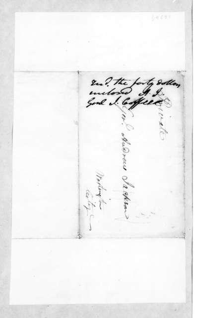 John Coffee to Andrew Jackson