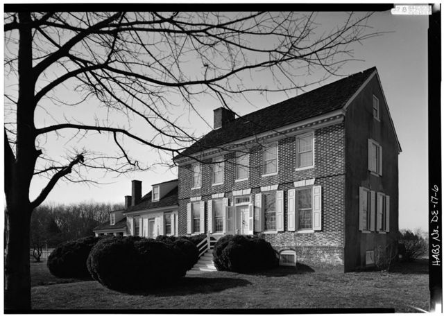 John Dickinson Mansion, Kitts Hummock Road, off State Road 68, 0.3 mile east of intersection with State Route 113, Dover, Kent County, DE