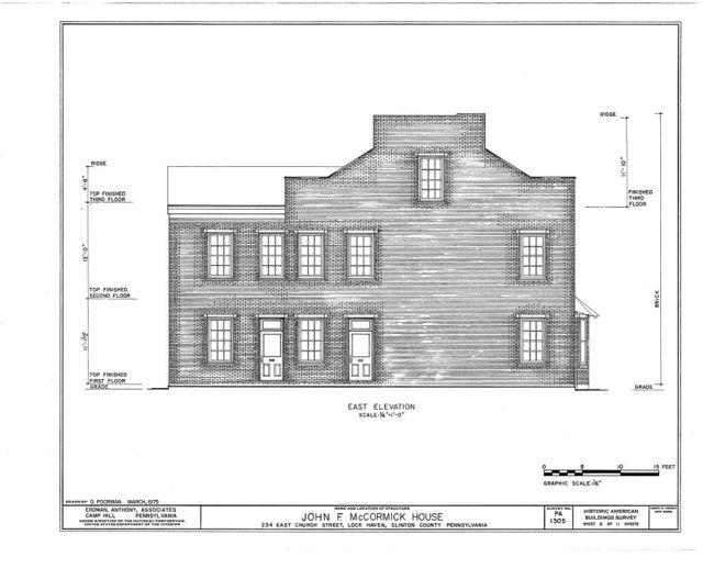 John F. McCormick House, 234 East Church Street, Lock Haven, Clinton County, PA