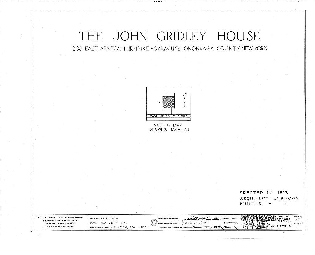 John Gridley House, 205 East Seneca Turnpike, Syracuse, Onondaga County, NY