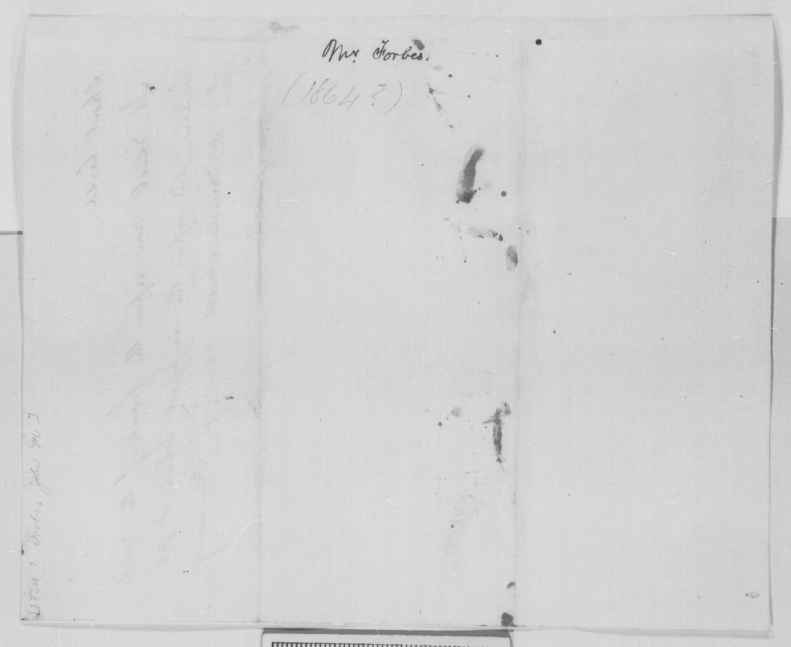 John M. Forbes to Abraham Lincoln,  ND  (Recommends negotiated peace with South)