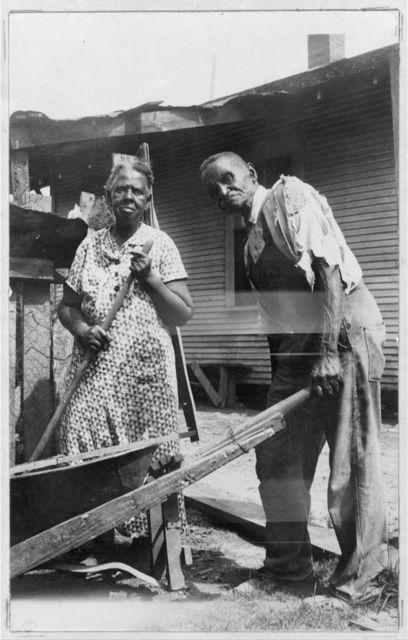 John Price and wife Miranda, Age about 80