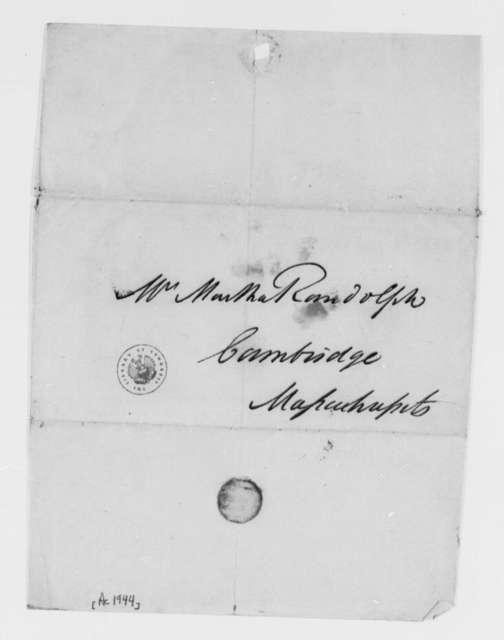 John Taylor to Martha Randolph, no date