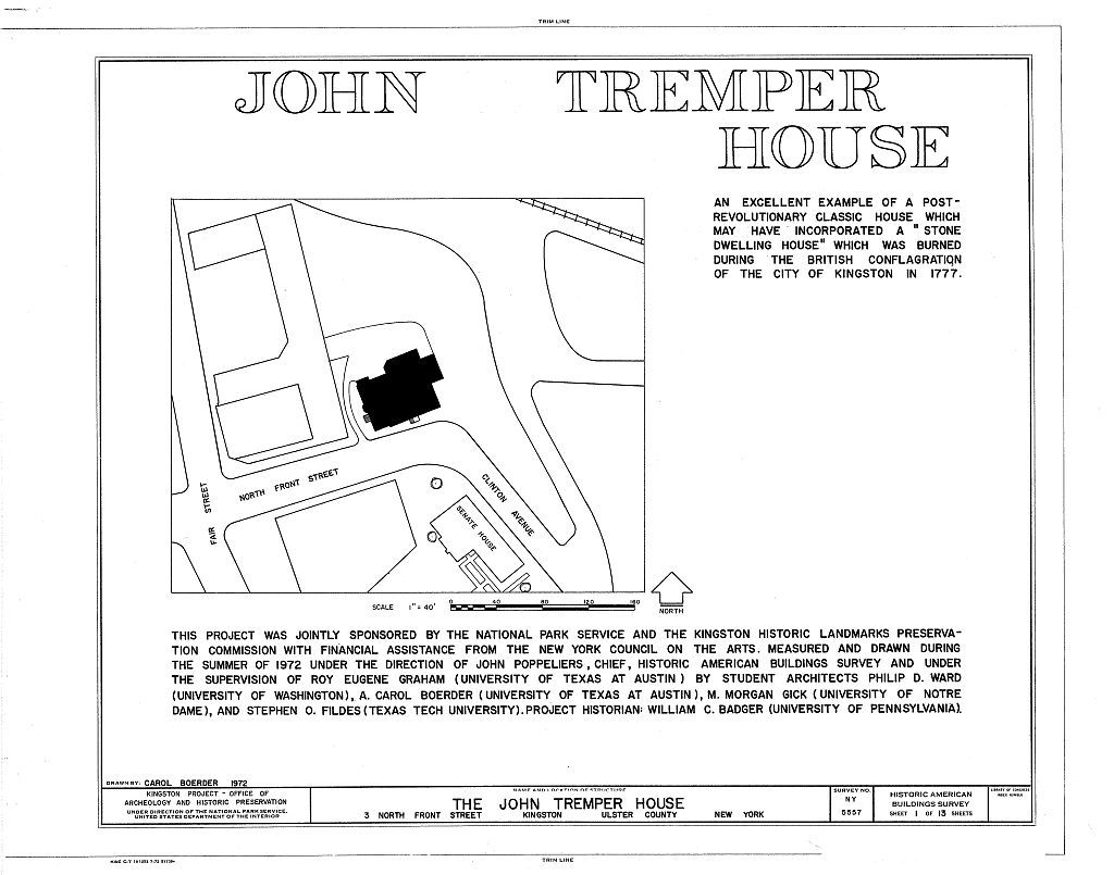 John Tremper House, 3 North Front Street, Kingston, Ulster County, NY