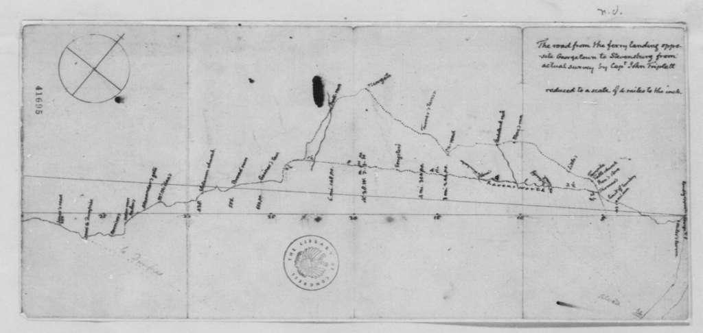 John Triplett, , Map of a Road from Georgetown to Stevensburg