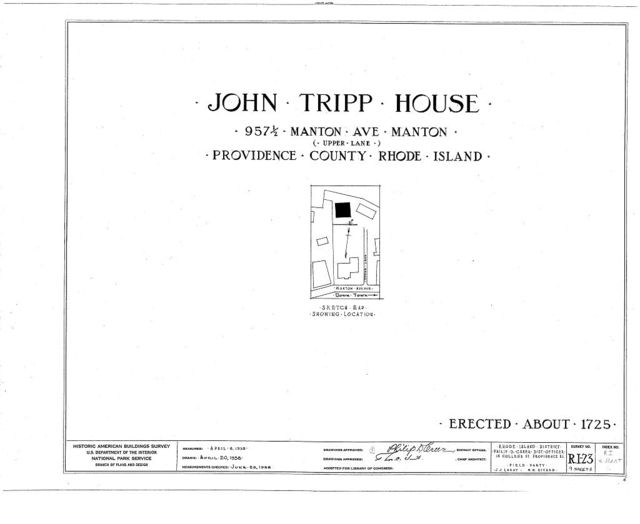 John Tripp House,  (moved from 953 1/2 Manton Avenue, Manton), Manton, Providence County, RI