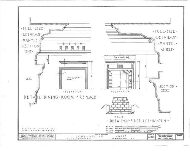 John Welling House, Curlis Avenue, Pennington, Mercer County, NJ