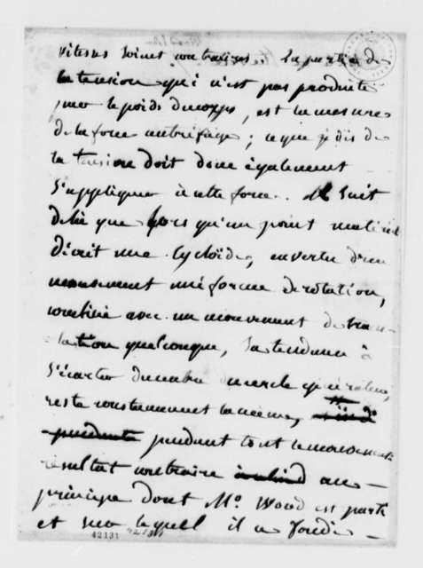 John Wood, no date, Notes on Marine Machine, in French