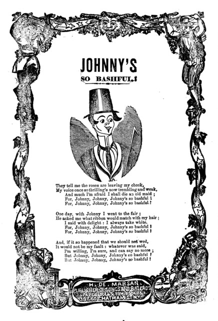 Johnny's so bashful. H. De Marsan, Publisher, 38 & 60 Chatham Street, N. Y