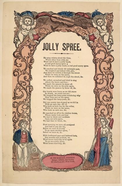 Jolly spree. H. De Marsan, Publisher, 60 Chatham Street, N. Y