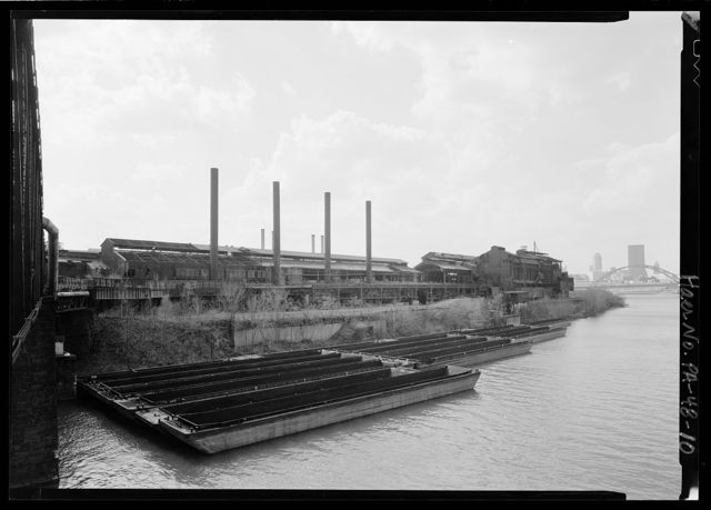 Jones & Laughlin Steel Corporation, Pittsburgh Works, Morgan Billet Mill Engine, 550 feet north of East Carson Street, opposite South Twenty-seventh Street, Pittsburgh, Allegheny County, PA