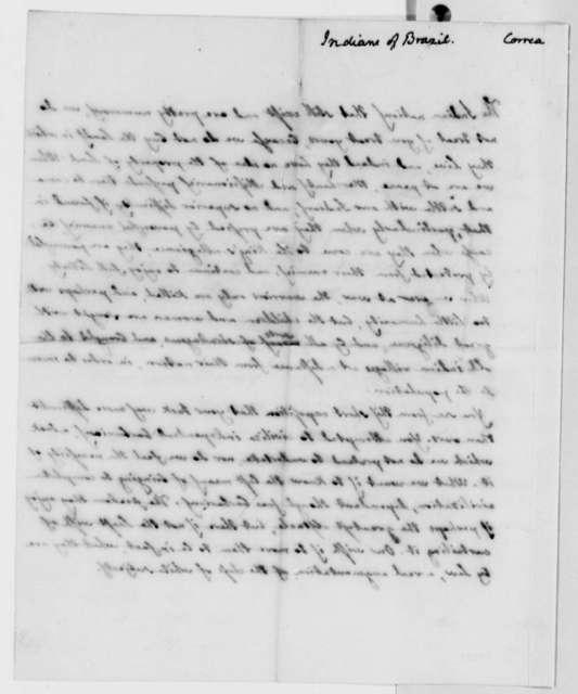 Jose Correa da Serra, no date, Case of Brazilian Indians