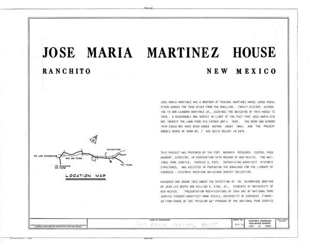 Jose Maria Martinez House, Ranchito, Taos County, NM