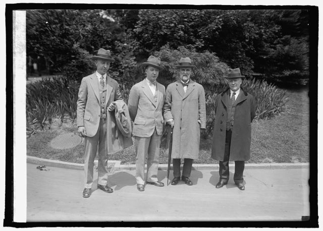 Joseph Lorch, H.C. Walford, F.J. Pullan of Sheffield, Eng. & A. Walford at W.H., [i.e., White House, Washington, D.C.], 5/8/25