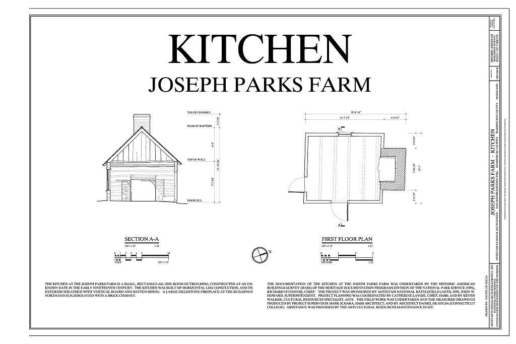 Joseph Parks Farm, Kitchen, 16442 Shepherdstown Pike, Sharpsburg, Washington County, MD