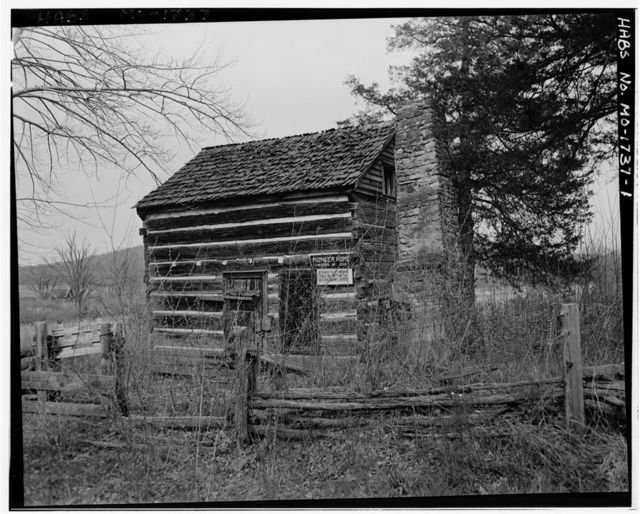 Joseph Stokely Log House, Piedmont, Wayne County, MO
