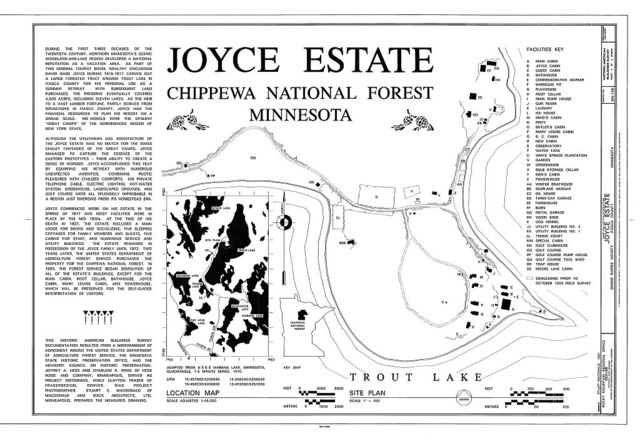 Joyce Estate, Chippewa National Forest Road 2144, 3 miles north of County Road 335, Grand Rapids, Itasca County, MN