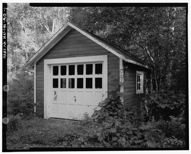 Joyce Estate, Golf Course Tool Shed, Chippewa National Forest Road 2144, 3 miles north of County Road 335, Grand Rapids, Itasca County, MN
