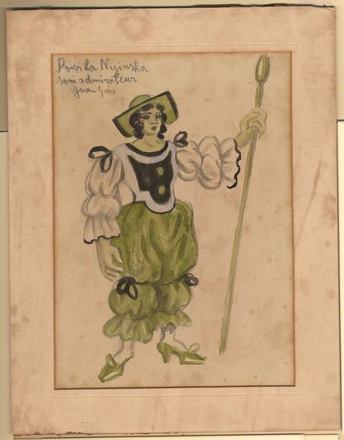 Juan Gris's color design for a Shepherdess in Les Tentations de la Bergère, ou L'amour Vainqueur, 1924