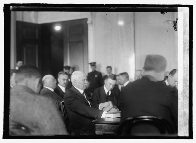 Judge Gary testifying before Senate Committee investigating steel strike, Oct. 1/19