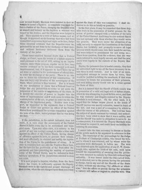 Judge Leavitt's decision in the habeas corpus case. Springfield, Ohio: Printed at the Democratic expositor office, [n. d.].