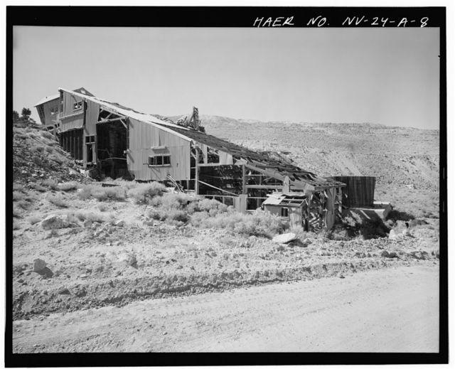 Juniata Mill Complex, Mill Building, 22.5 miles Southwest of Hawthorne, between Aurora Crater & Aurora Peak, Hawthorne, Mineral County, NV