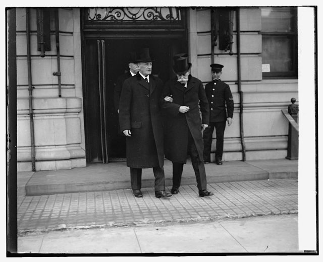 Justice McReynolds & Holmes at funeral of Justice McKenna, 11/22/26