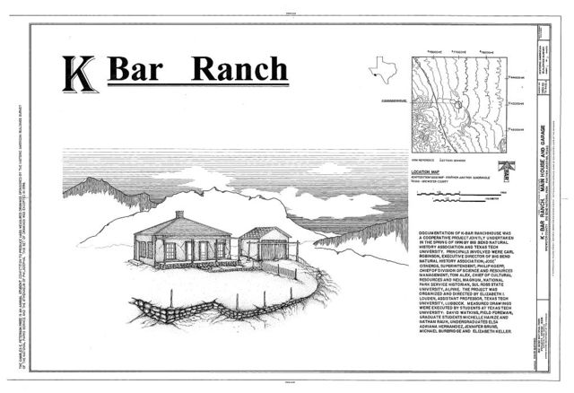 K-Bar Ranch, Main House & Garage, Panther Junction, Brewster County, TX