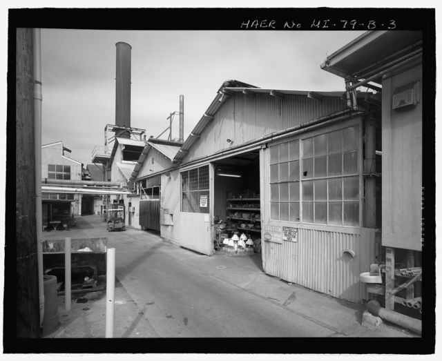 Kahului Cannery, Plant No. 28, Boiler House, Sheet Metal and Electrical Shops, 120 Kane Street, Kahului, Maui County, HI
